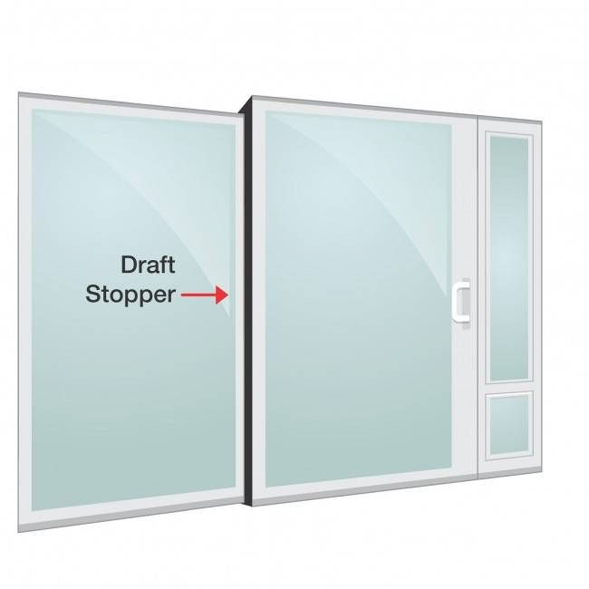 Draft stopper center post weatherstrip for panels doors draft center post weather strip for sliding glass dog door planetlyrics Image collections