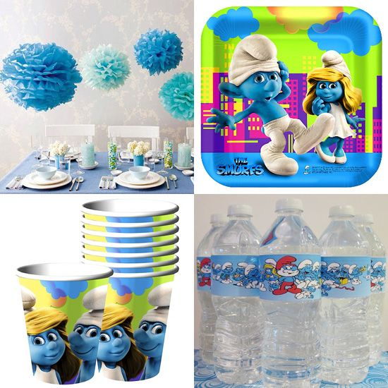 Smurfs Party Decorations Smurfs Birthday Party Birthday Party