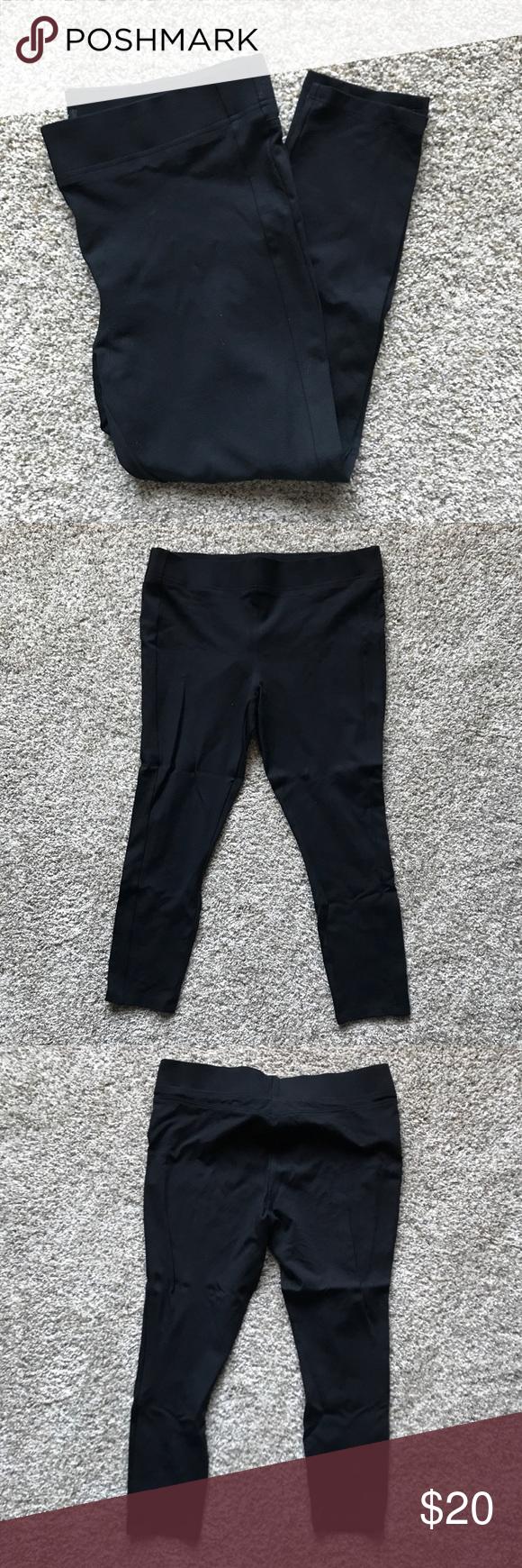 EUC Loft Seamed Leggings - Black - XL Black ponte ankle pant/ Legging. Seaming adds stylish detail. LOFT Pants