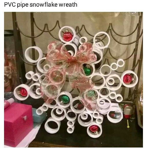 PVC Pipe Snowflake Wreath