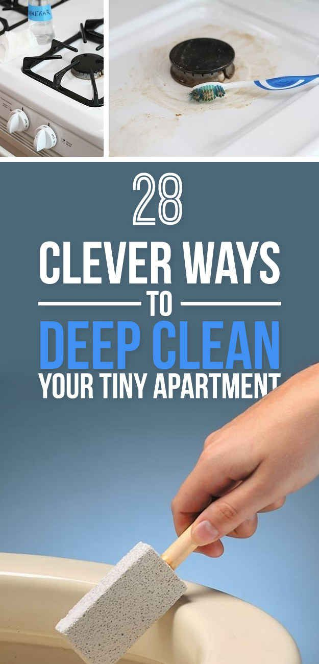 Clever Ways To Deep Clean Your Tiny Apartment Tiny Apartments - 14 brilliant cleaning hacks that will change the way you clean your home