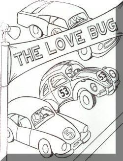 Herbie colouring in | ♥ I <3 The LoveBug ♥ | Pinterest | Disney ...