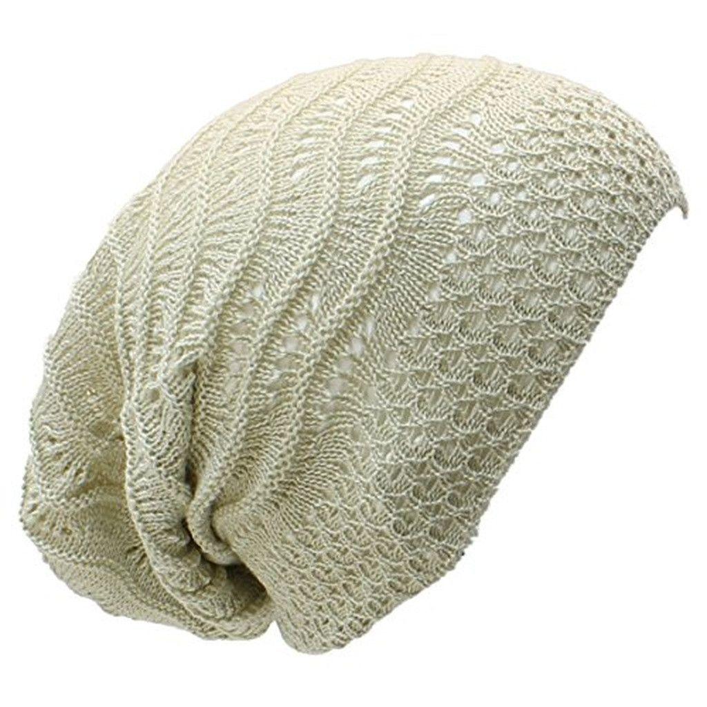 Wave Crochet Lightweight Beanie Hat