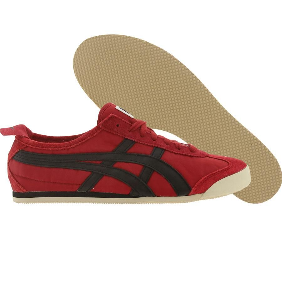 new product eb6d1 fb95a Asics Onitsuka Tiger Mexico 66 Vintage shoes in red and black asics  onitsuka tiger mexico 66 shoes cyanic yellow Find this Pin and more ...