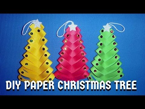 Easy Christmas Crafts For Kids Christmas Craft Ideas Youtube Diy Paper Christmas Tree Diy Christmas Tree Diy Christmas Paper