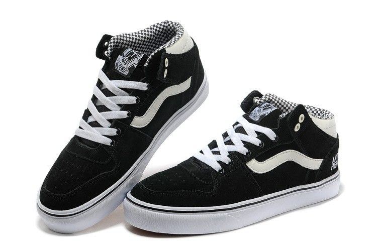 2d6783fb99 Home » Vans TNT II Mid Anti-Hero Mens Skate Shoes – Black White ...