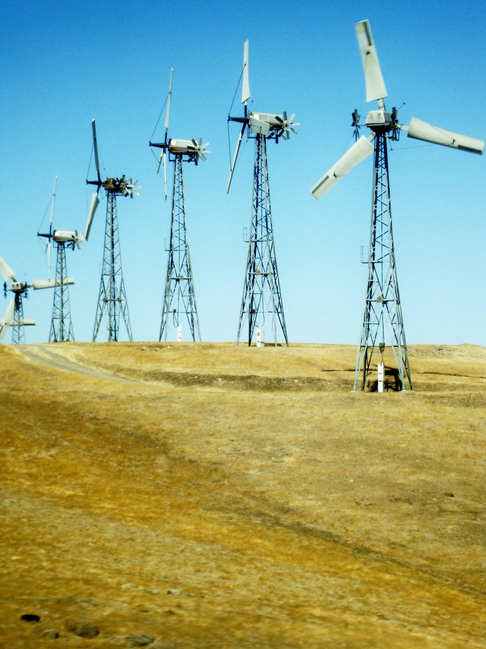 wind turbines. somewhere in Oregon