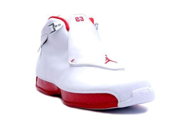 sports shoes 3c1b1 9208f Air Jordan 18 White Varsity Red