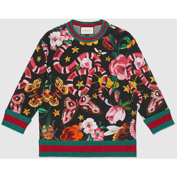 3d3d85fac Gucci Garden Exclusive Sweatshirt ($1,350) ❤ liked on Polyvore featuring  tops, hoodies, sweatshirts, ready to wear, sweatshirts & t-shirts, women,  ...