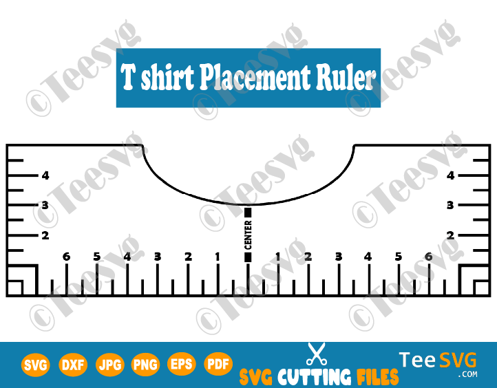 T Shirt Placement Ruler Svg Tshirt Ruler Svg Guide Tshirt Alignment Tool Svg File Diy Vinyl Te Cricut Expression Projects Cricut Projects Vinyl Printable Ruler