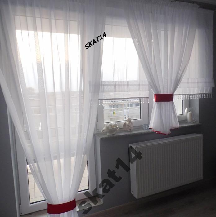 Firana Firany Balkon Panele Kolory Karnisz 280 350 Window