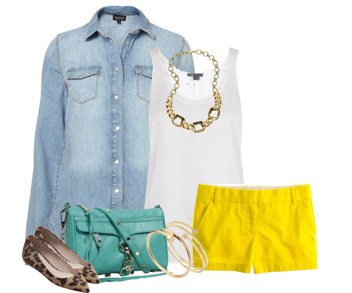 chambray, leopard, turquoise, yellow = LOVE