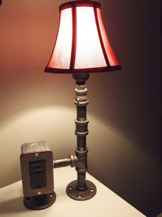 Vintage Table Or Desk Lamp Usb Charging Station Lamp Diy Lamp Steampunk Lighting