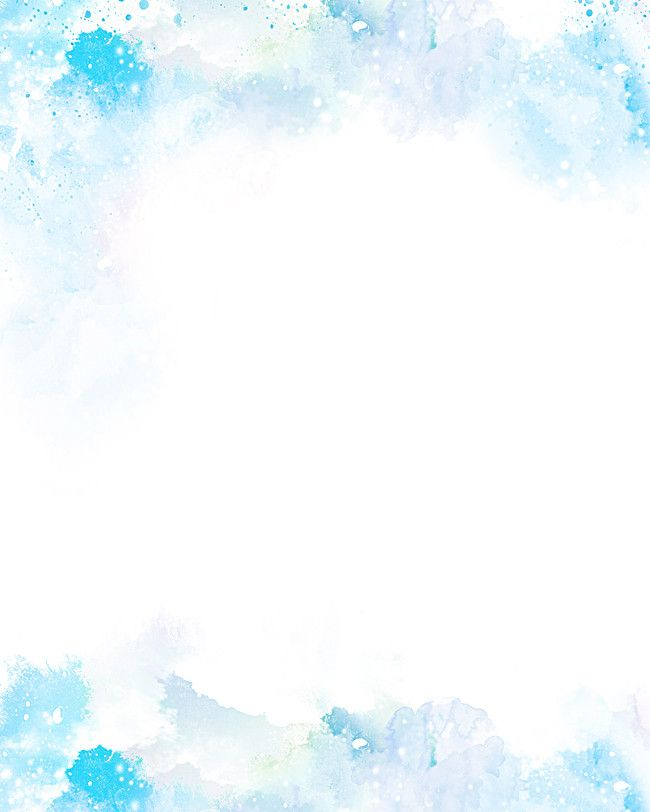 Ice Crystal Frame Watercolor Background