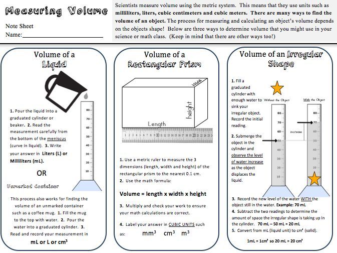 Volume Practice Freebie Science Classroom Worksheets And Students