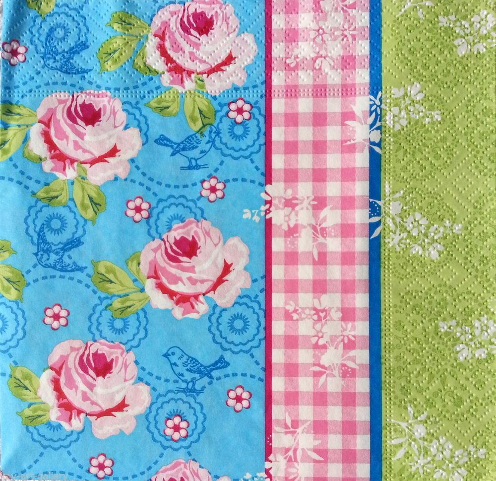Evelyn Flower 4x Paper Napkins for Decoupage Craft and Party