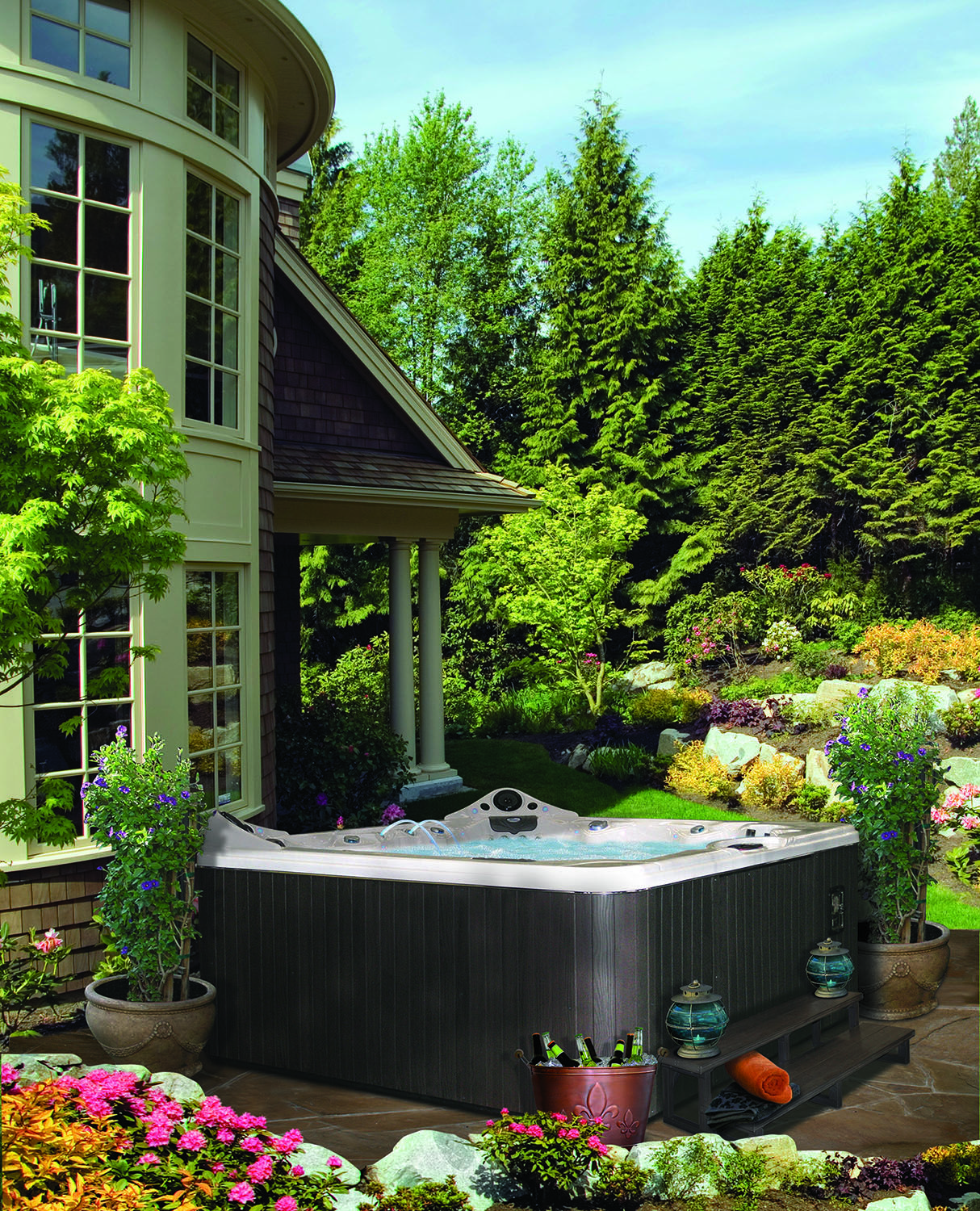 Hot Tub Landscaping For The Beginner On A Budget Hot Tub Landscaping Hot Tub Garden Hot Tub