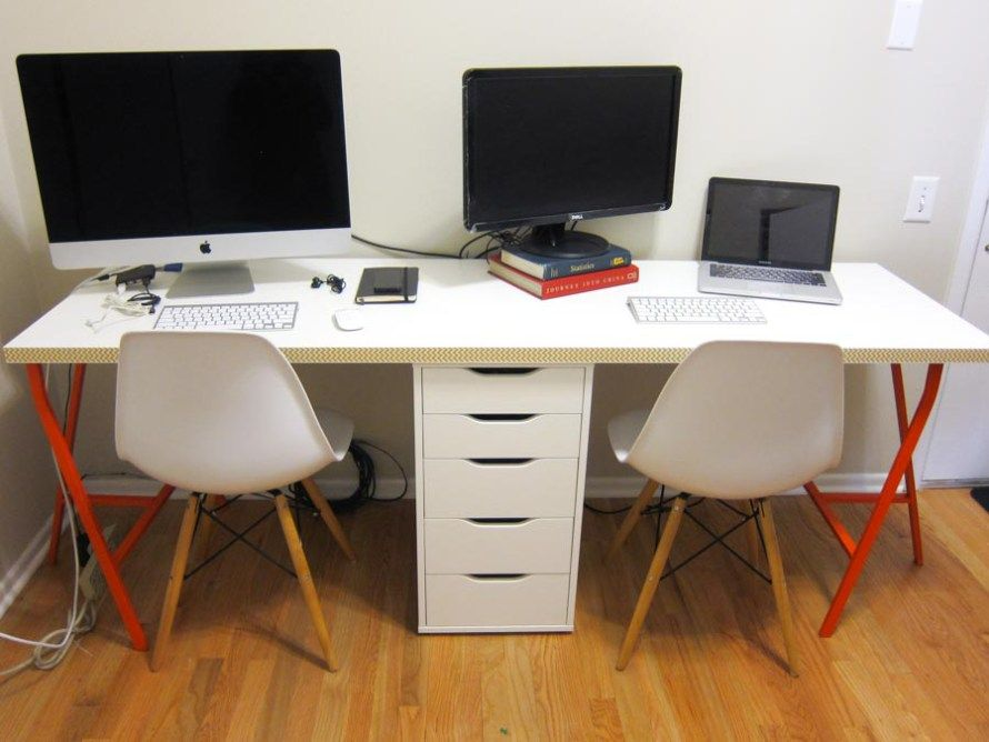 Office Makeover Part 2 Diy Ikea Linnmon Desk For Two Lito Supply Co Ikea Linnmon Desk Linnmon Desk Desk For Two