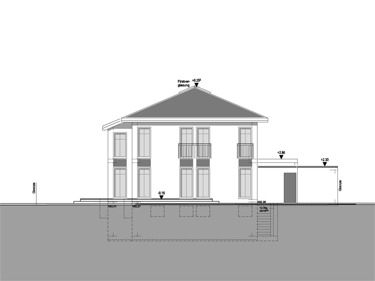 Traufhöhe Stadtvilla 2p raum de portfolio aktuell in planung 2p raum architekten