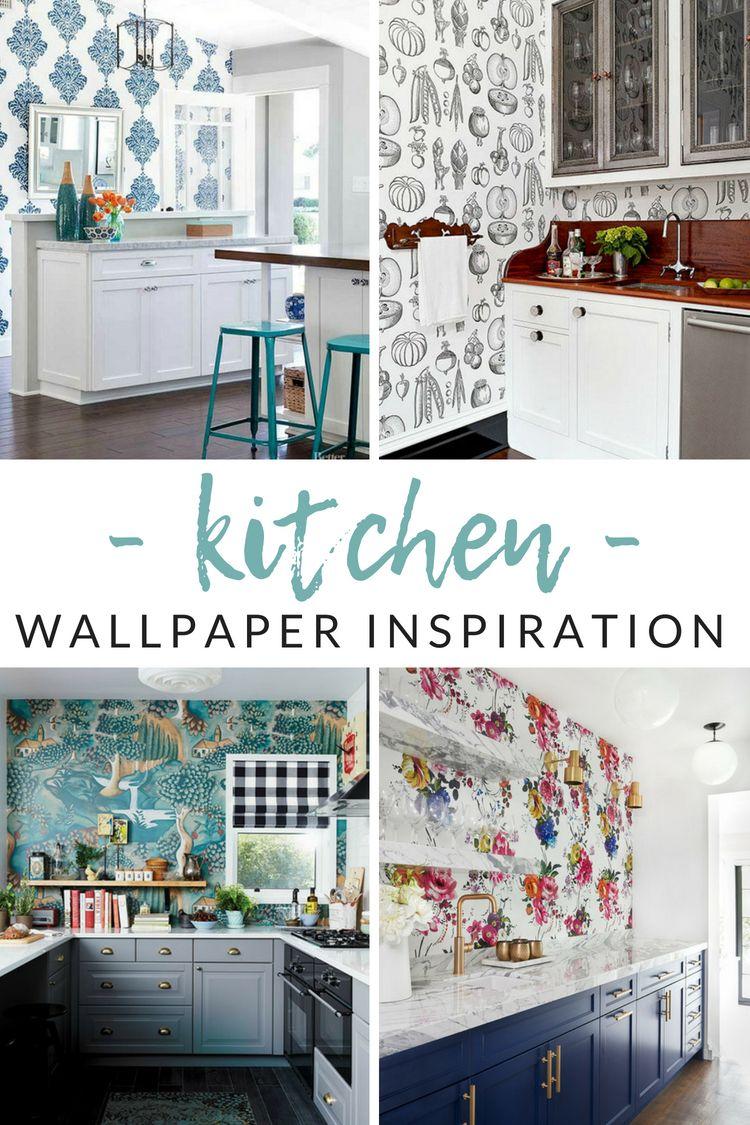 Unique Decor Ideas Functional Kitchen Wallpaper Ideas With