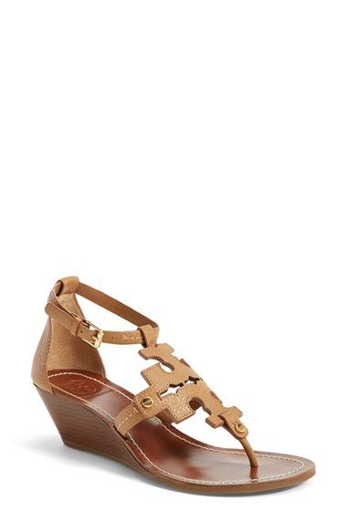 Tory Burch 'Chandler' Wedge Leather Sandal (Women) | Nordstrom. Leather  SandalsLeather ...