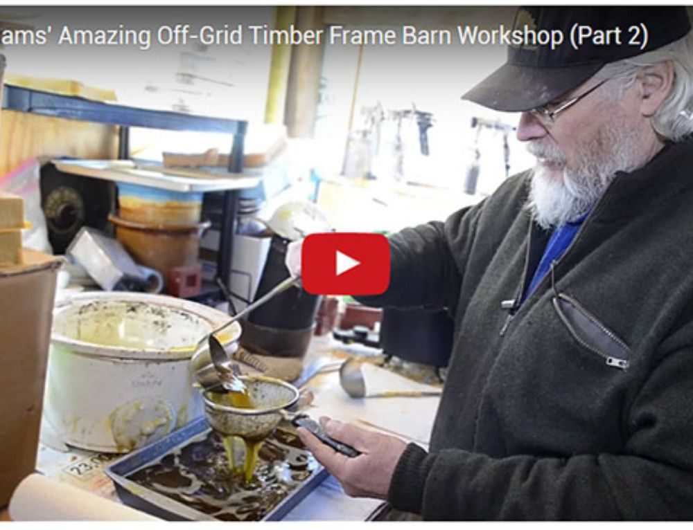 Don Williams' Amazing Off-Grid Timber Frame Barn Workshop (Part 2)