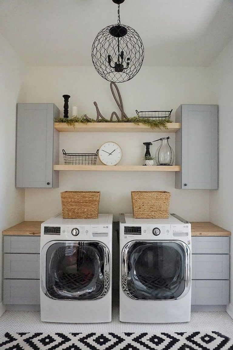 52 Cool Farmhouse Rustic Laundry Room Decor Ideas Laundry Room