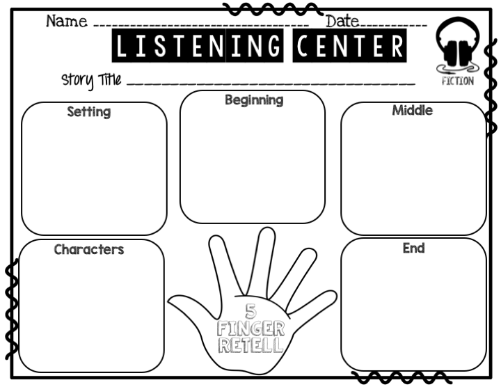 Listening Center Response Sheets (Fiction & Non-Fiction