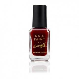 """Barry M's """"Red Wine""""  Det anbefales at bruge base coat før påførelse af neglelakken. Barry M """"All in one Basecoat, Topcoat & Nail Hardener"""" kan med fordel benyttes."""