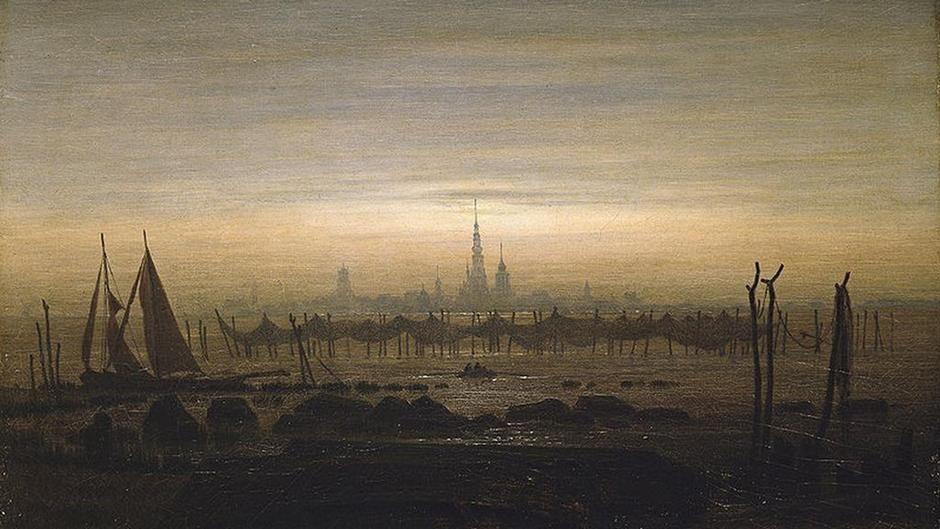 Der Maler Caspar David Friedrich liebte die Silhouette: Greifswald im Mondschein