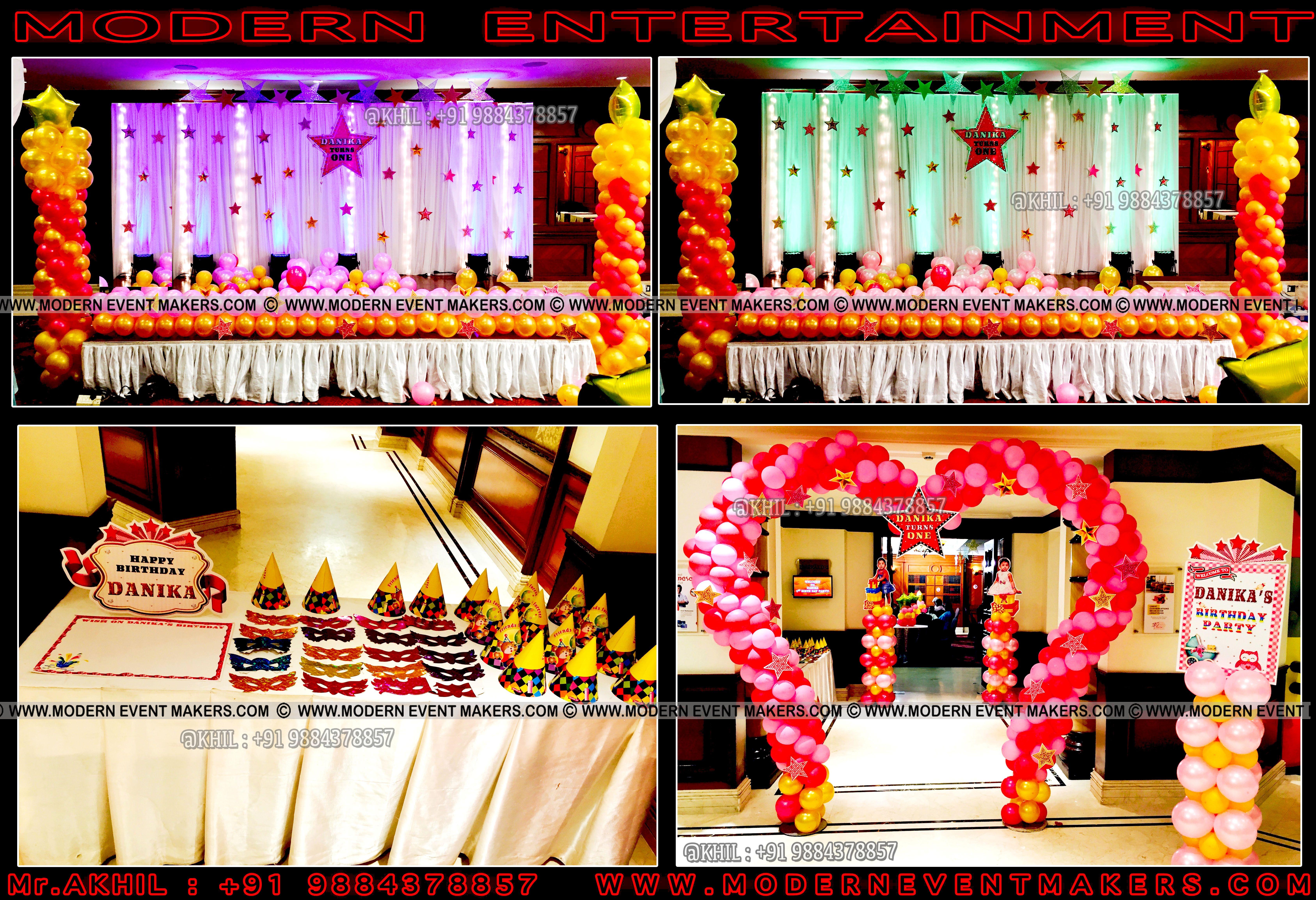 * Balloon decoration birthday party chennai Mr.Akhil+91
