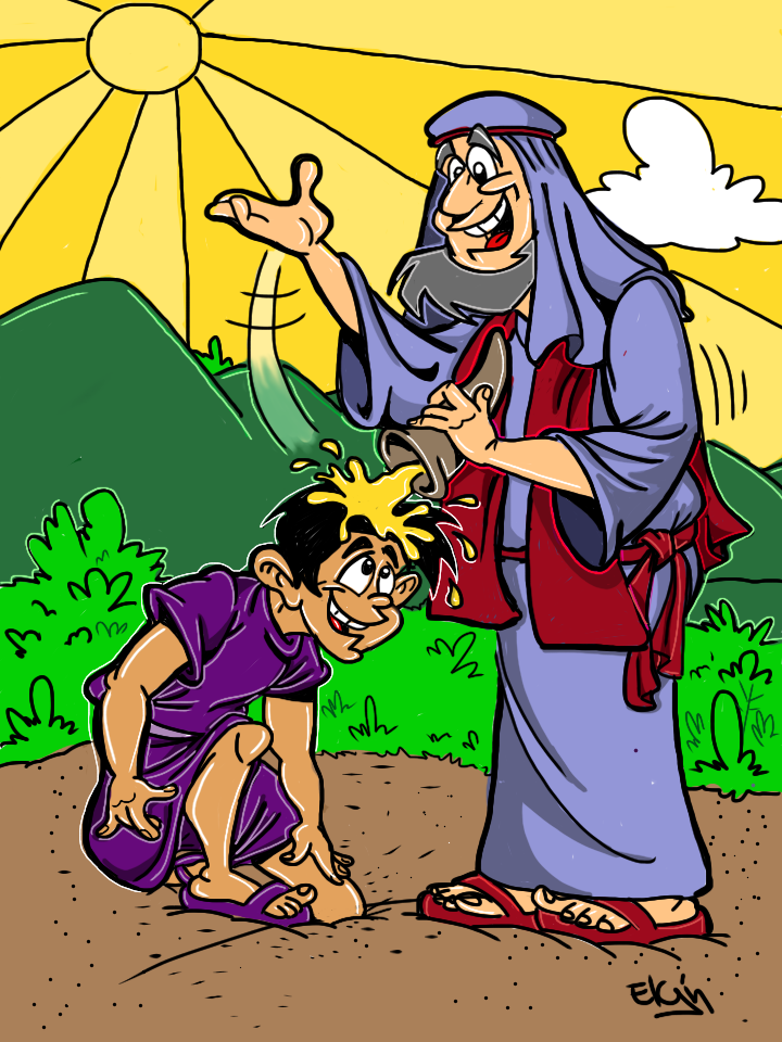 Quot Samuel Anoints David As King Quot Cartoon Amp Coloring Page