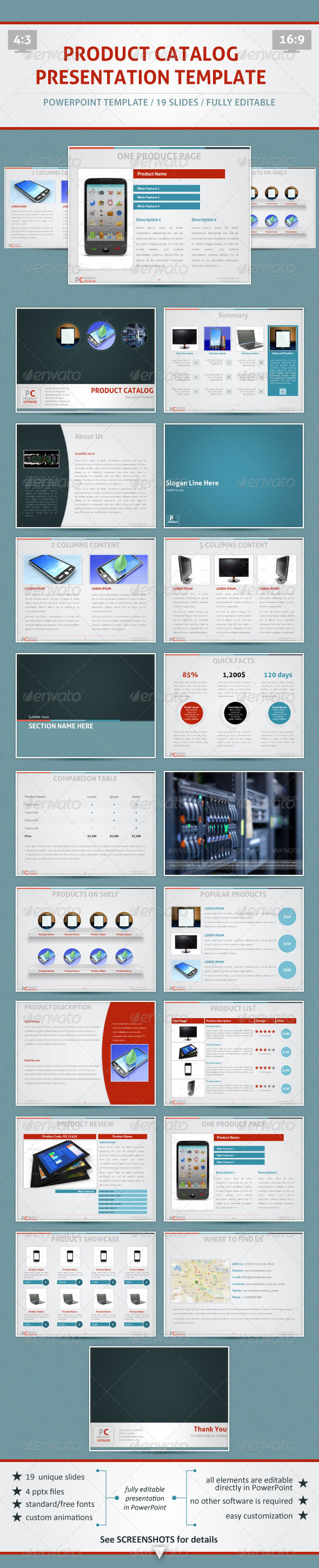 product catalog - powerpoint template | product catalog, template, Presentation templates