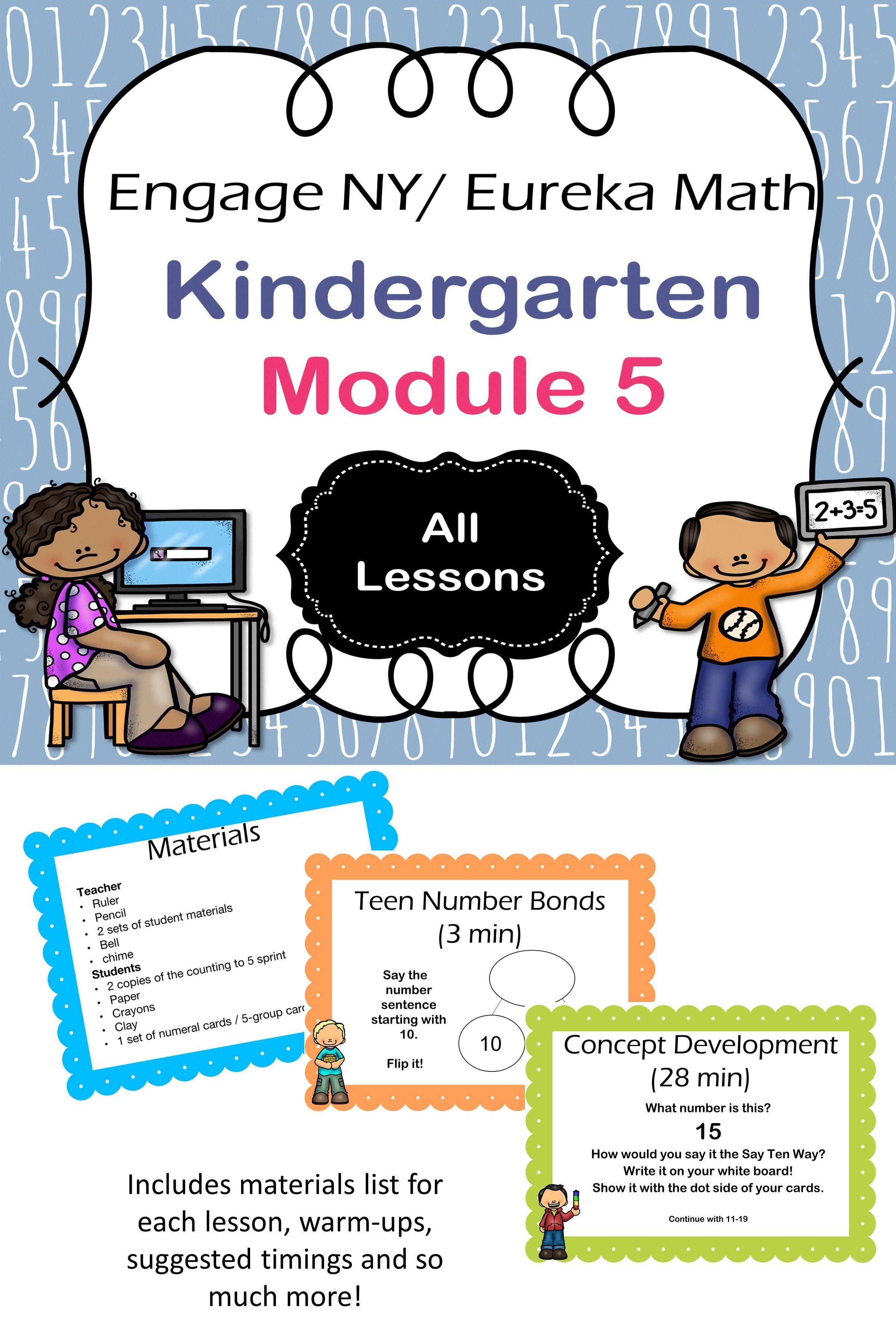Eureka Math Kindergarten Module 5 Complete Set