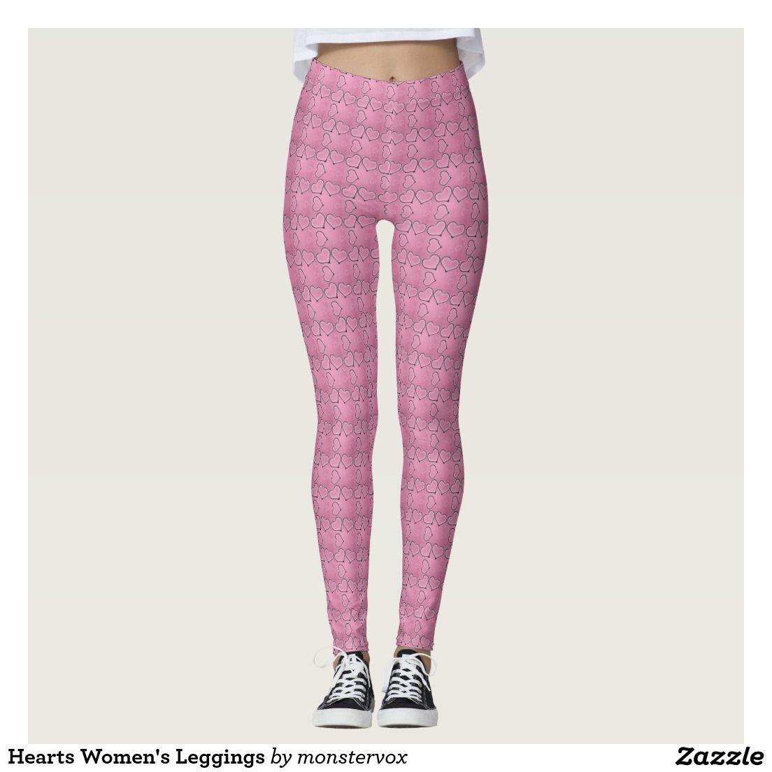 b81519469839dc Hearts Women's Leggings #Leggings #Yoga #Pants #Activewear #Sports  #Sportswear #Athletic #Fashion #Design