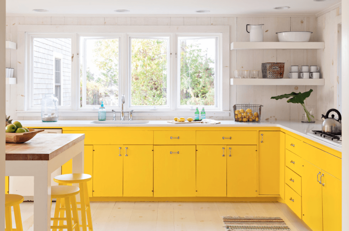 Best Painted Kitchen Cabinet Ideas Yellow Kitchen Cabinets 640 x 480