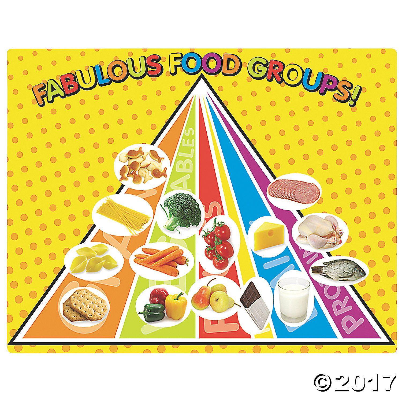 Fabulous Food Groups Sticker Scenes