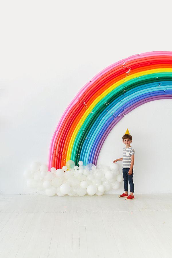 Rainbow Balloon Backdrop Oh Happy Day