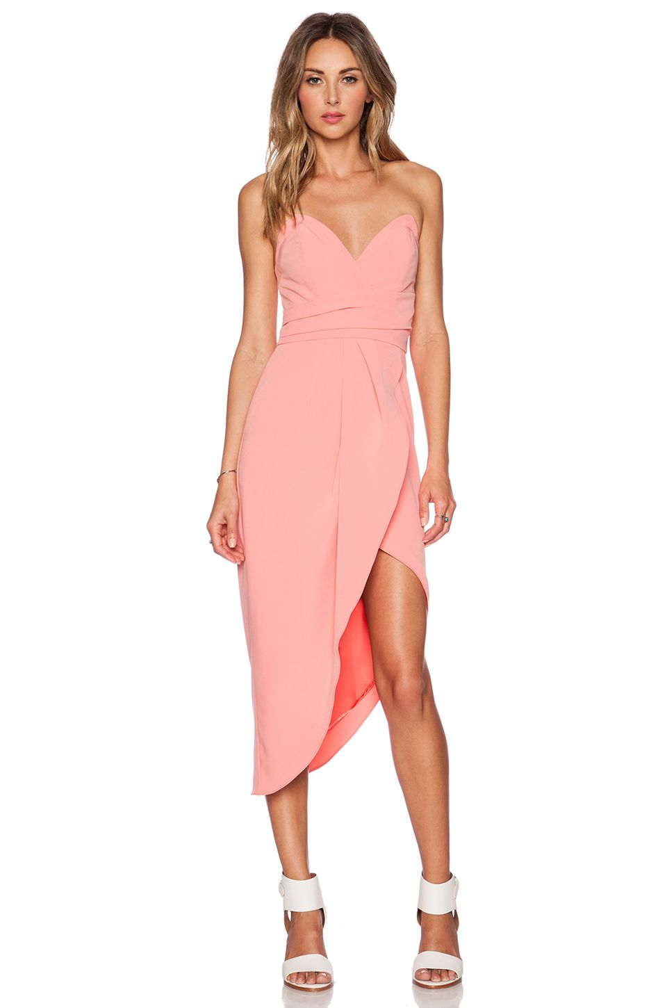 Lovers + Friends x REVOLVE Riviera Strapless Dress in Coral ...