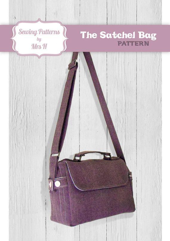 Satchel Bag PDF Advanced Sewing pattern by SewingPatternsbyMrsH ...