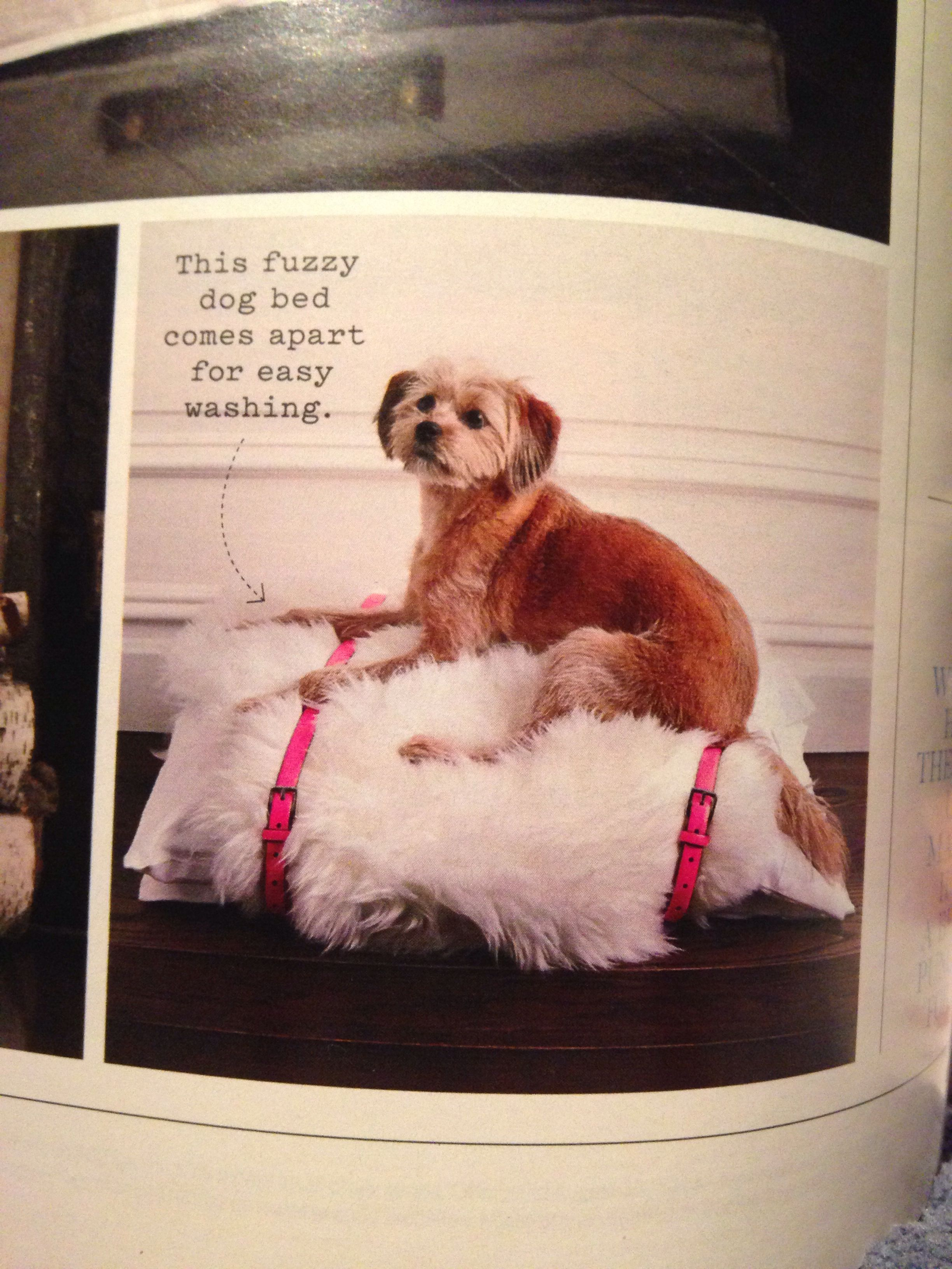 To Make A Dog Bed Wrap One Or Two Standard Bedroom Pillows With Faux Sheepskin Rugdog