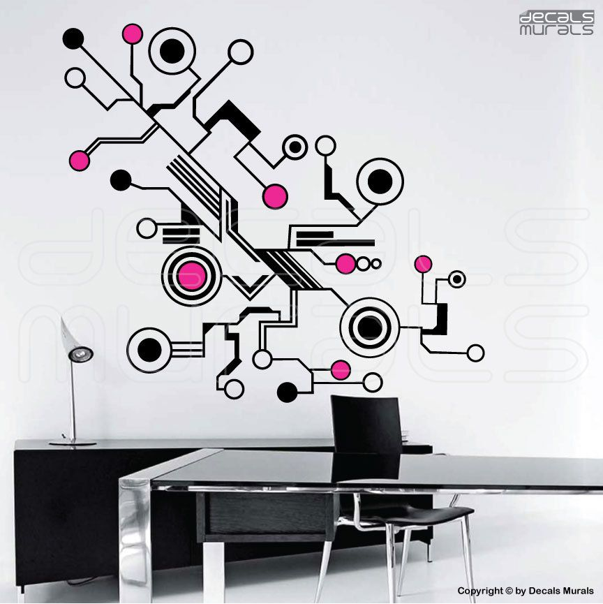 Technology Vinyl Wall Decals Sticker Art Wall Drawing