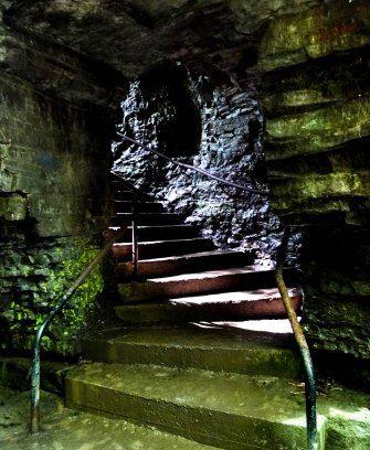 Little tunnel in Watkins Glen Gorge.  Upstate New York. Photo by Gabriela LeBaron. #travel