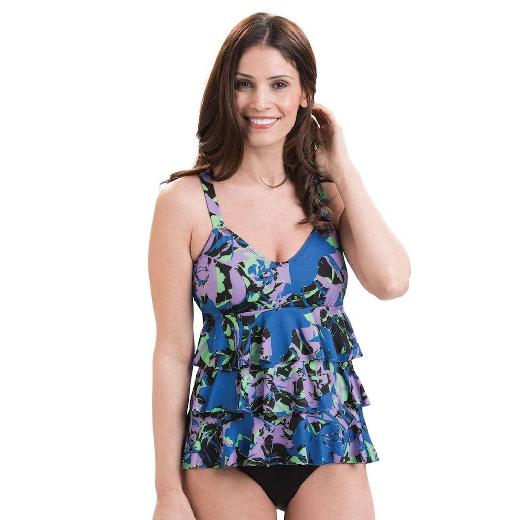 4f55d7ffcc3 Plus Size Dolfin Aquashape Tummy Slimmer Tiered One-Piece Swimsuit,  Women's, Size: 18, Yellow Oth