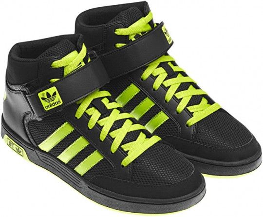 adidas varial mid st black neon   Shoes