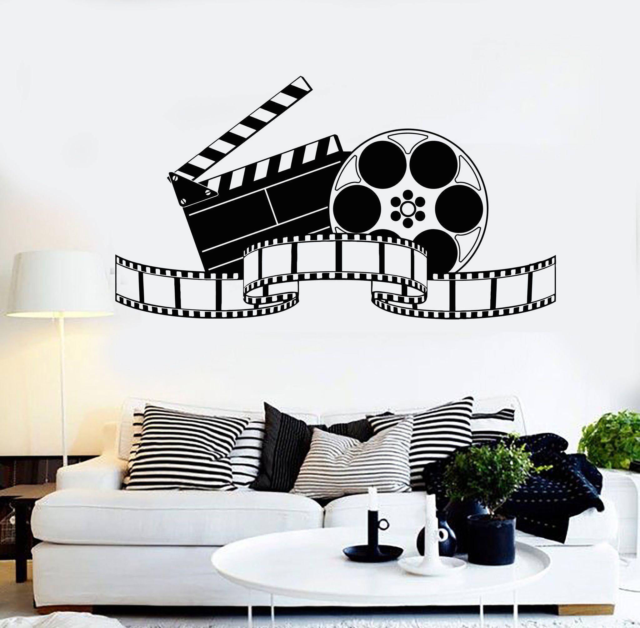 Vinyl wall decal filming art cinema film movie stickers - Stickers cinema mural ...