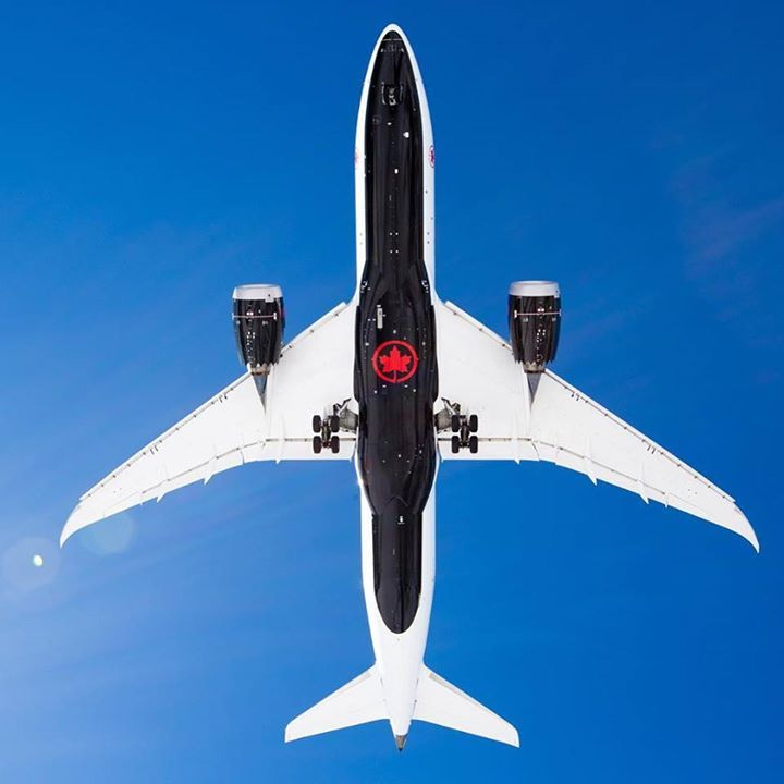 Air Canadas Brand New Livery Is Stunning The Aircraft Belly Painted Black Featuring A Single Red Ac Rondelle Allows It T Aviation Boeing 787 Canadian Airlines