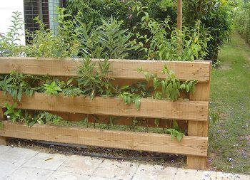 valla de jardn hecha con tablones