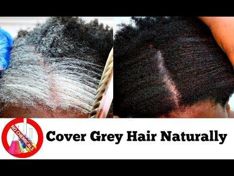 How To Turn White Or Grey Hair Into Black Naturally With No Chemicals Natural Hair Dye Step By Step Youtube Natural Hair Styles Black And Grey Hair Dyed Hair