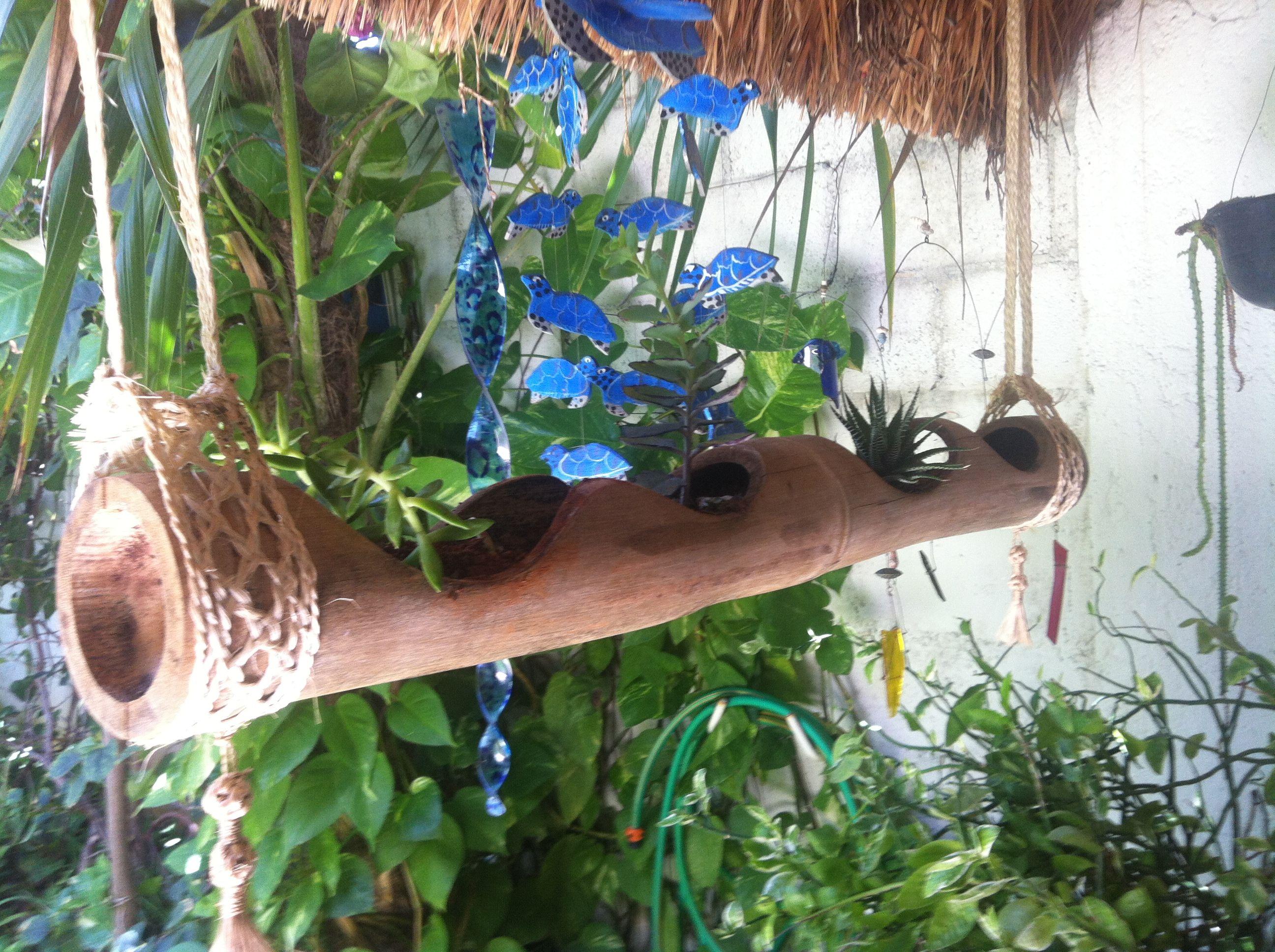 Macetero De Bamb Coco Bamb Y Madera Pinterest Bamb  # Muebles Debambu
